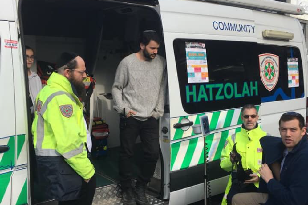 Hatzolah Melbourne Responders at a standby