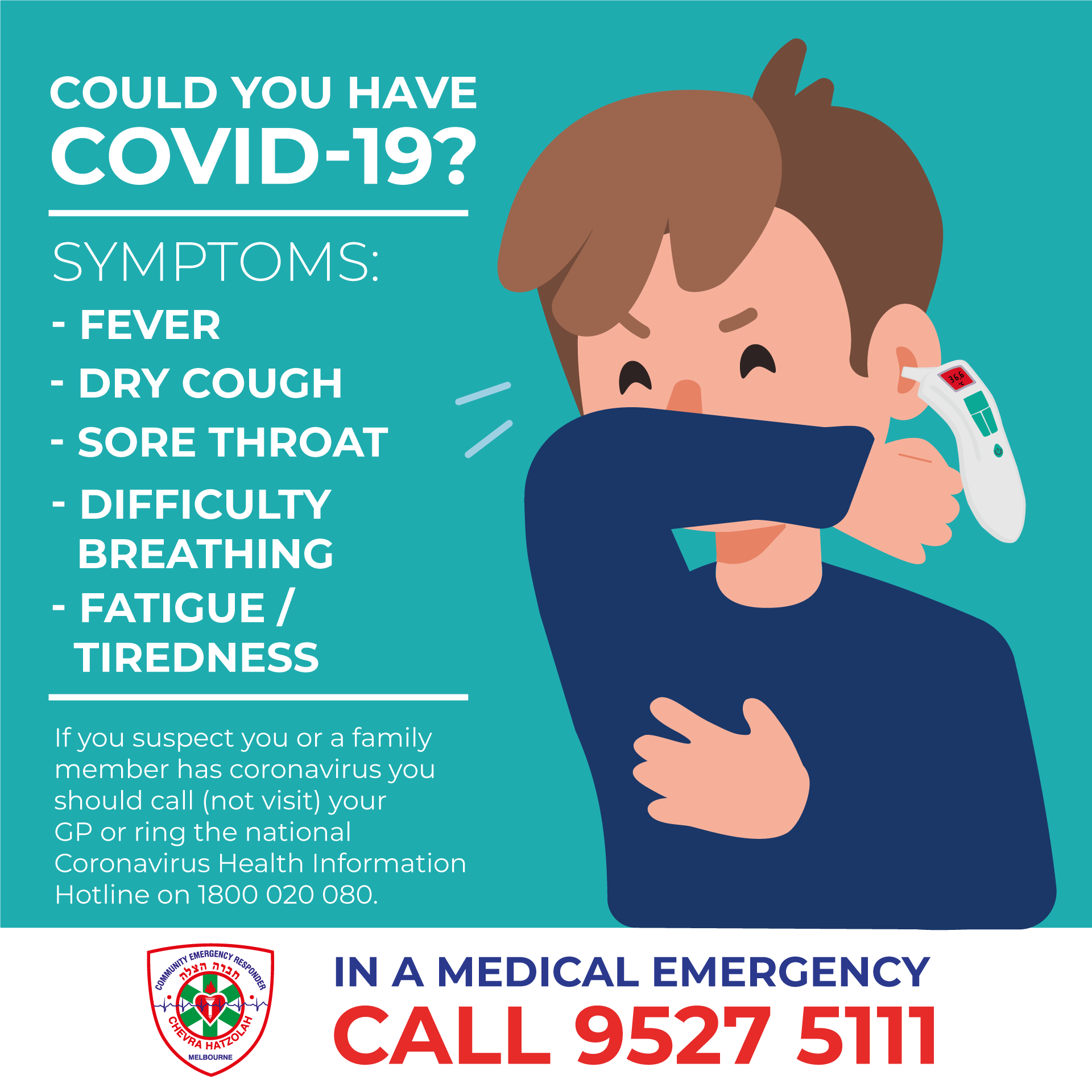 Hatzolah Melbourne Could you have COVID-19